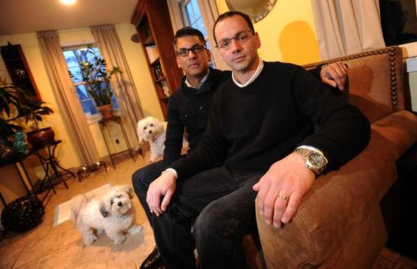 Nicholas Coppola, right, and his husband David Crespo,
