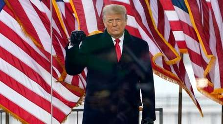 President Donald Trump arrives to speak at a