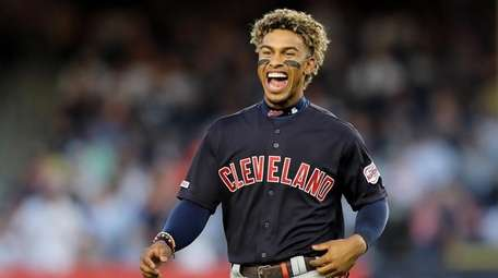 Francisco Lindor of the Cleveland Indians at Yankee
