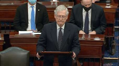 In this image from video, Senate Majority Leader