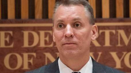 New York City Police Commissioner Dermot Shea attends
