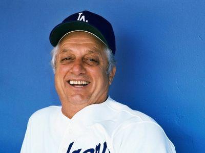 Baseball manager Tommy Lasorda in Los Angeles Dodger