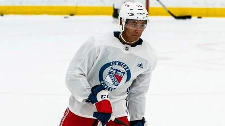 K'Andre Miller at Rangers training camp on July