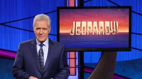 This image released by Jeopardy! shows Alex Trebek,