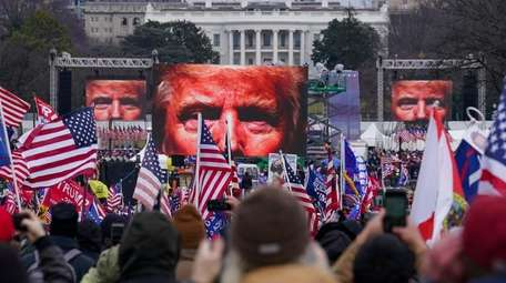 Trump supporters participate in a rally Wednesday in