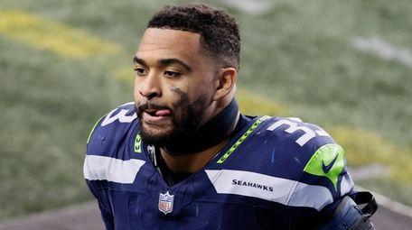 Seahawks strong safety Jamal Adams walks off the
