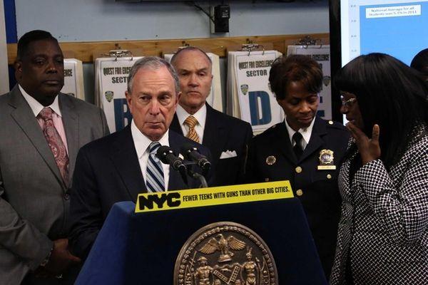 Mayor Bloomberg announces New York City has a