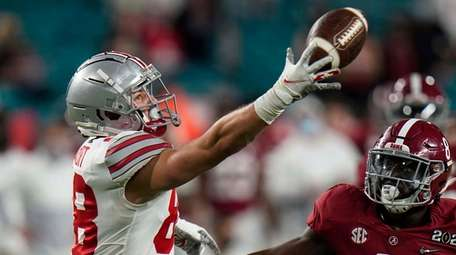 Ohio State tight end Jeremy Ruckert, a former