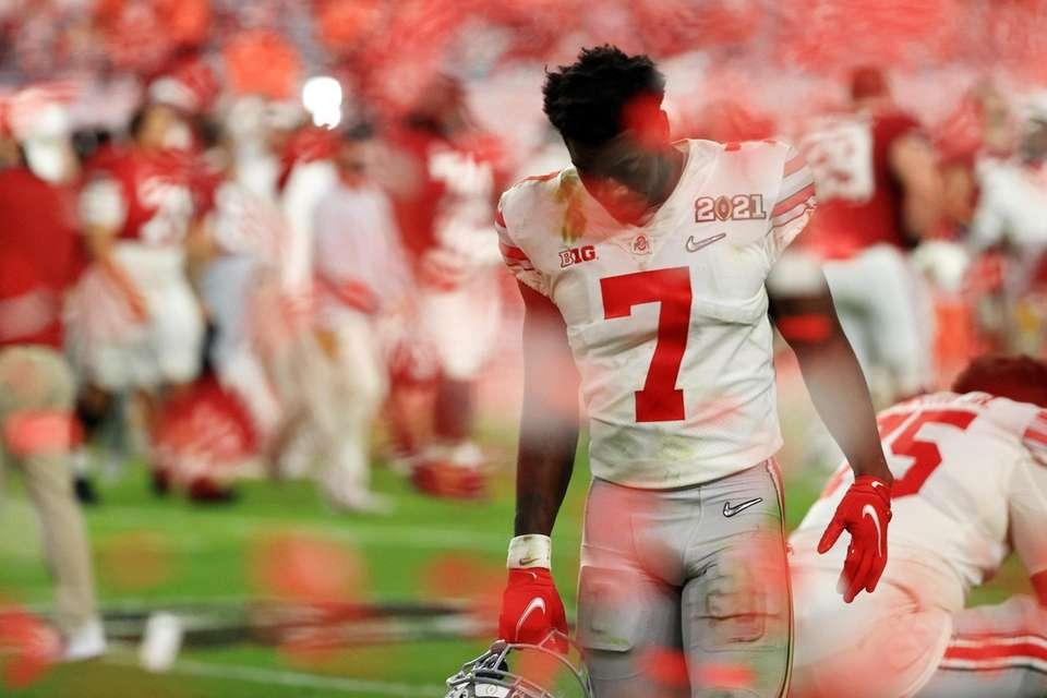 Sevyn Banks #7 of the Ohio State Buckeyes