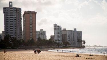 The Ocean Park neighborhood in San Juan, Puerto