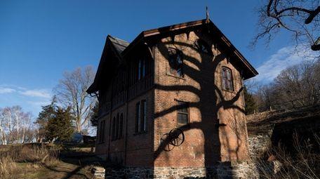 The ornate Gothic Revival mill in Roslyn Harbor