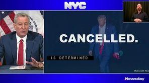 On Wednesday, Mayor Bill de Blasio announced that
