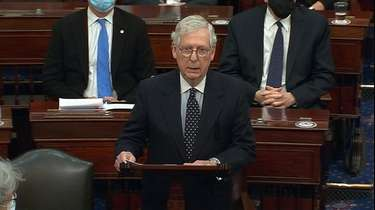 Senate Majority Leader Mitch McConnell of Ky., speaks