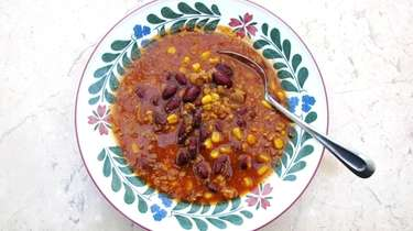 Turkey chili at Ayhan's Mediterranean Marketplace in Port