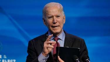 President-elect Joe Biden speaks during an event at