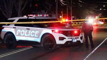 Suffolk County police investigate a motor vehicle crash