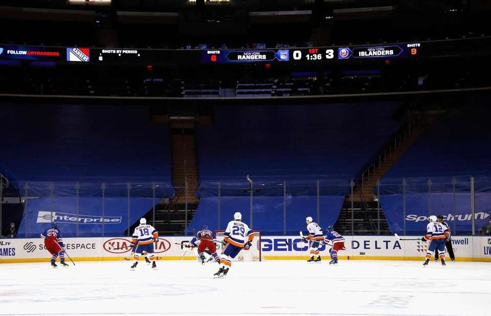 In an empty Madison Square Garden, the Rangers