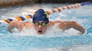 Aidan Greenfield of Northport competes in the 100-yard