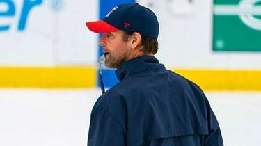 Rangers head coach David Quinn at training camp