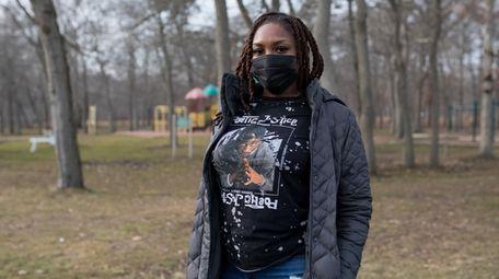 Destiny Johnson, 22, of Farmingdale, at Belmont Lake