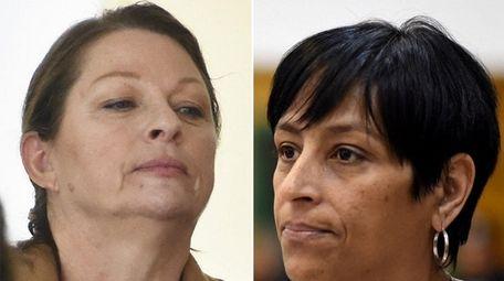 Ann Marie Drago, left, is awaiting sentencing for