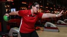 Connetquot bowler Angelica Polcini competes at Bowlero in
