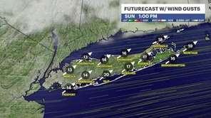 Sunday will be mostly sunny across Long Island