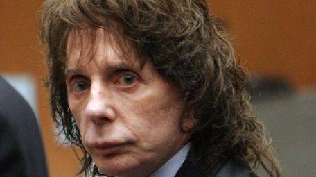 Phil Spector is seen in court in Los