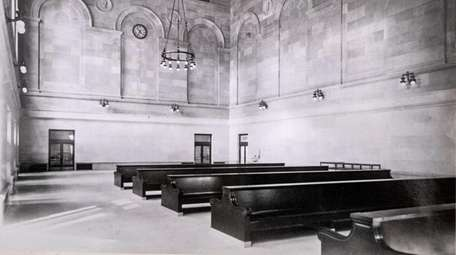 A seating room in the old Pennsylvania Station,