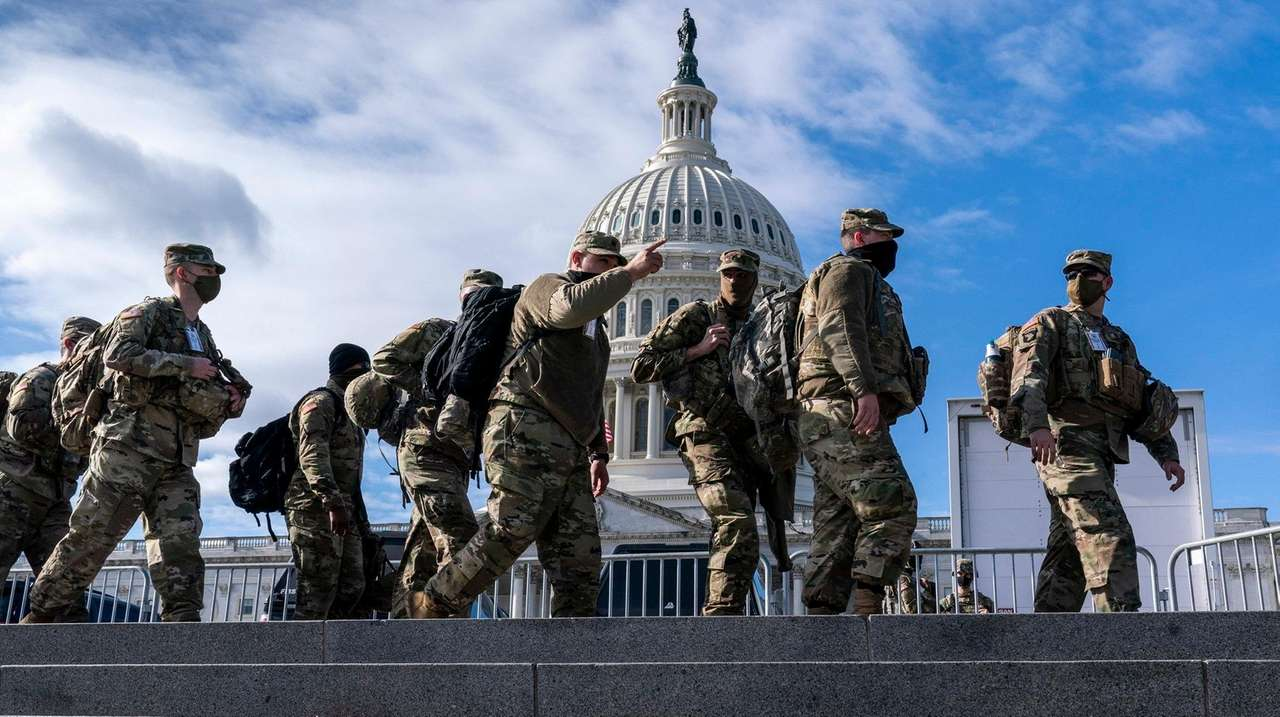National Guard troops reinforce security around the U.S.