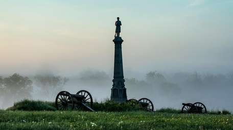 The Ohio Monument on Cemetery Hill in Gettysburg