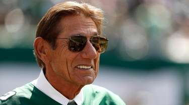 NFL Hall of Famer Joe Namath leaves the