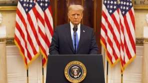 President Trump on Tuesday posted this farewell address