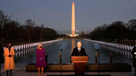 President-elect Joe Biden during a memorial to COVID-19