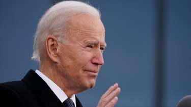 President-elect Joe Biden speaks at the Major Joseph