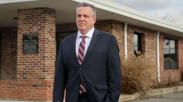 Smithtown Highway Superintendent Robert Murphy outside Highway Department