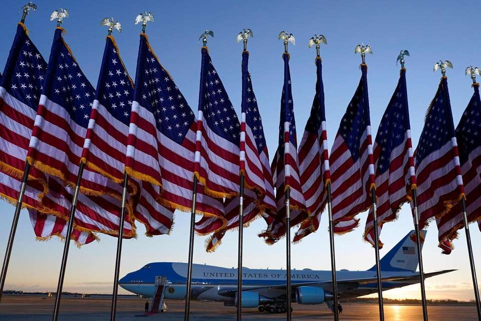 Air Force One is prepared for President Donald