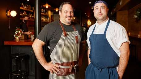 Chef owner Steven Scalesse and sous chef Stephen