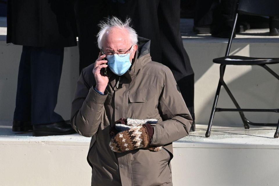 Vermont Senator Bernie Sanders is seen on the