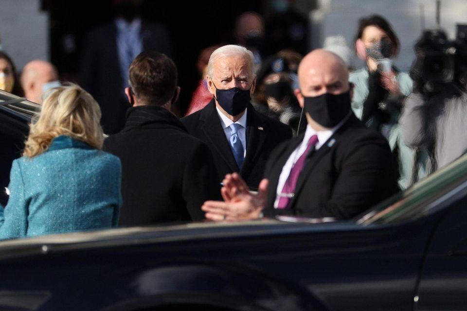 U.S. President-elect Joe Biden arrives for his inauguration