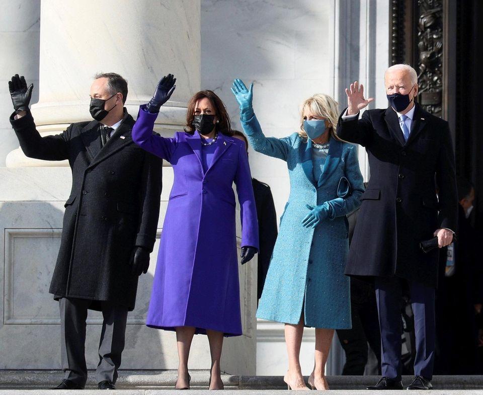 Doug Emhoff, U.S. Vice President-elect Kamala Harris, Jill