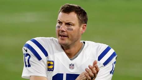 Philip Rivers #17 of the Indianapolis Colts watches