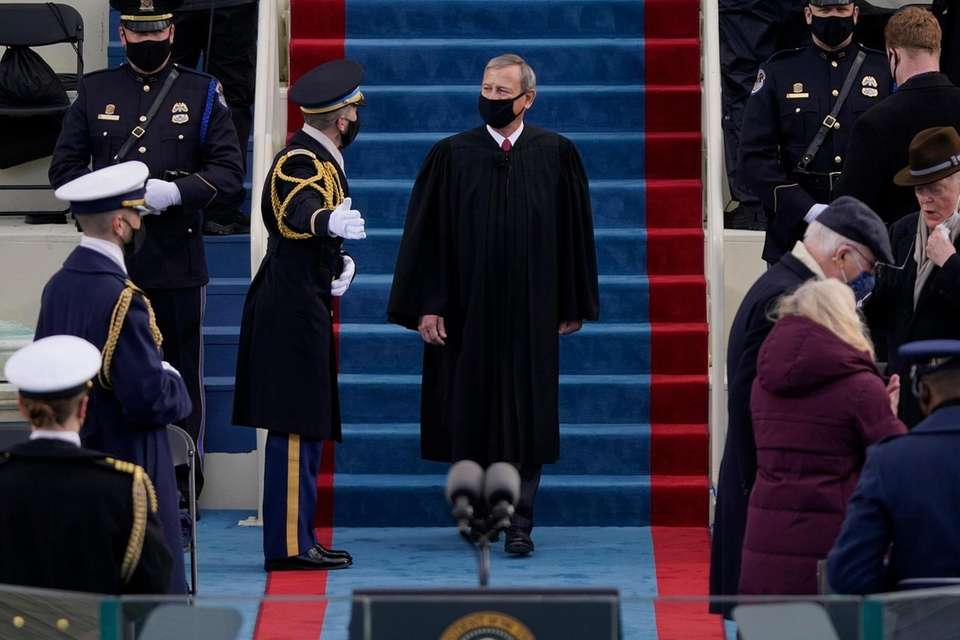 Chief Justice John Roberts arrives for the 59th