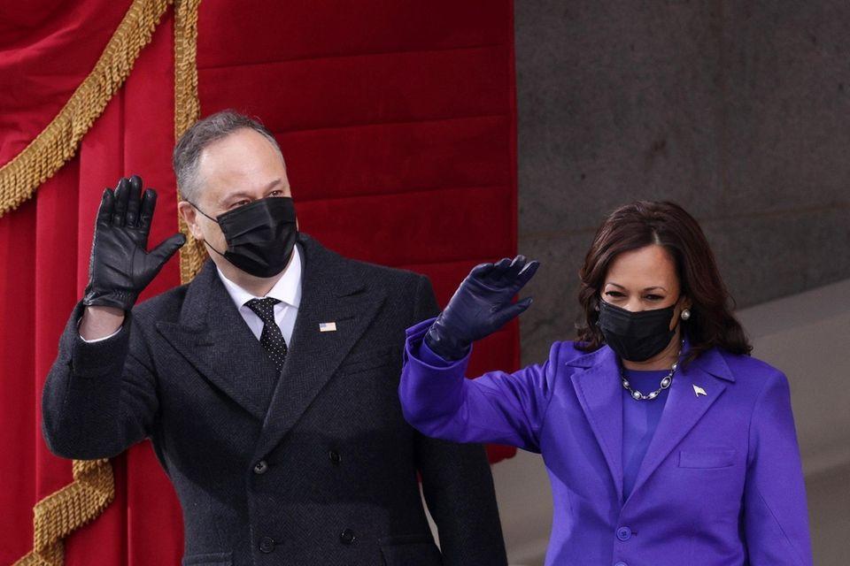 U.S. Vice President-elect Kamala Harris and husband Doug