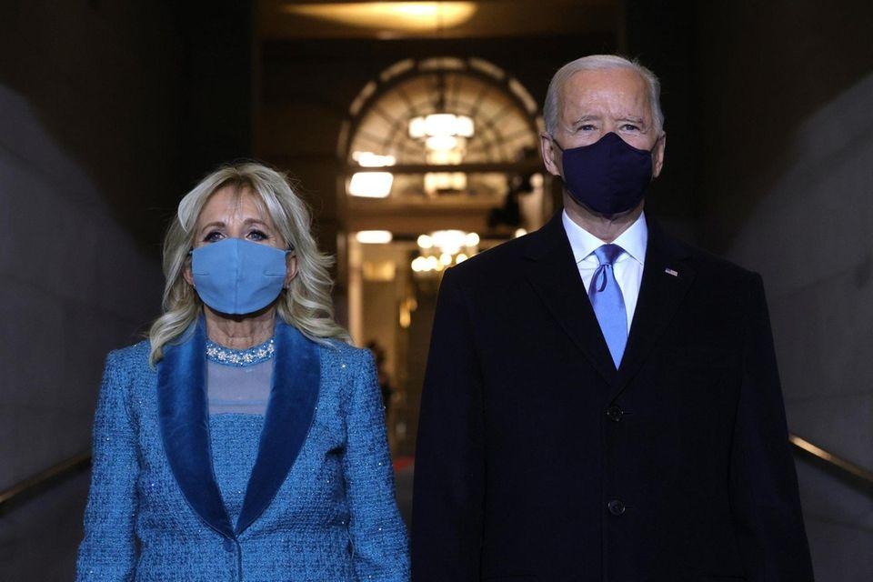 U.S. President-elect Joe Biden and Jill Biden arrive