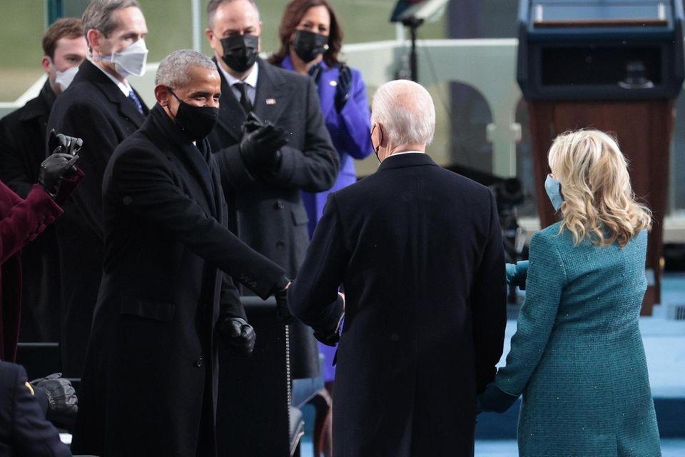 U.S. President-elect Joe Biden.and Dr. Jill Biden greet
