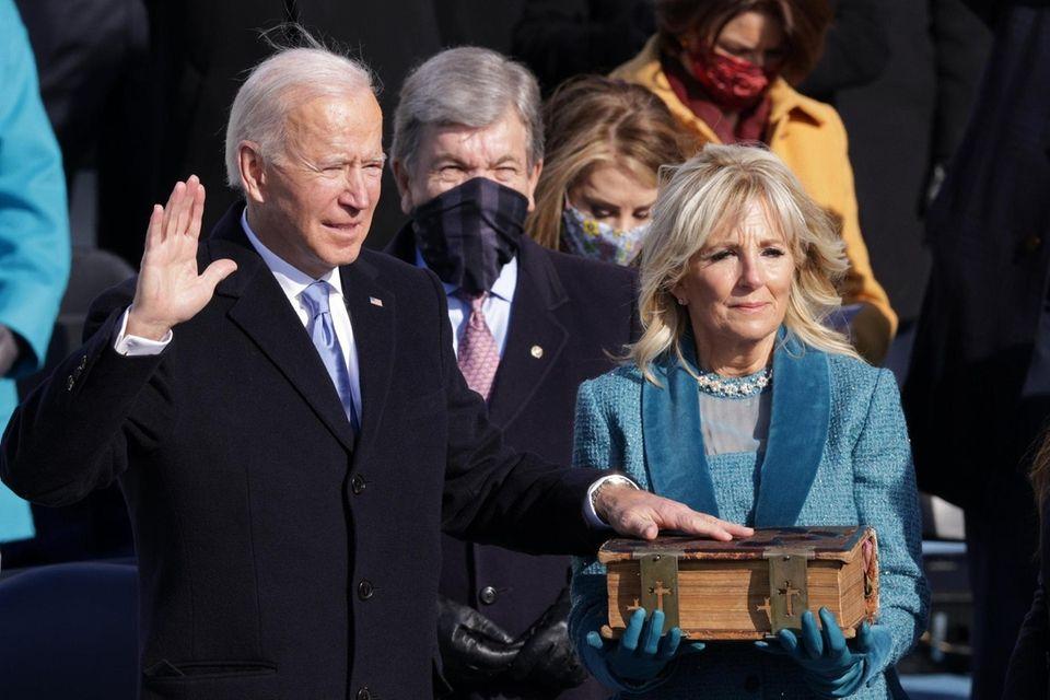 Joe Biden is sworn in as U.S. President