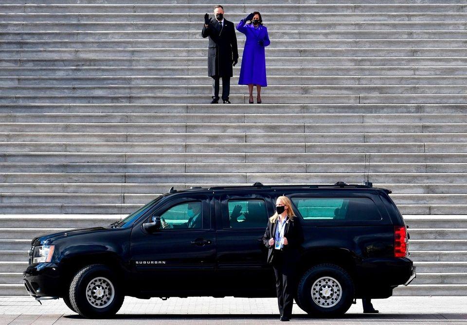 US Vice President Kamala Harris and husband Douglas