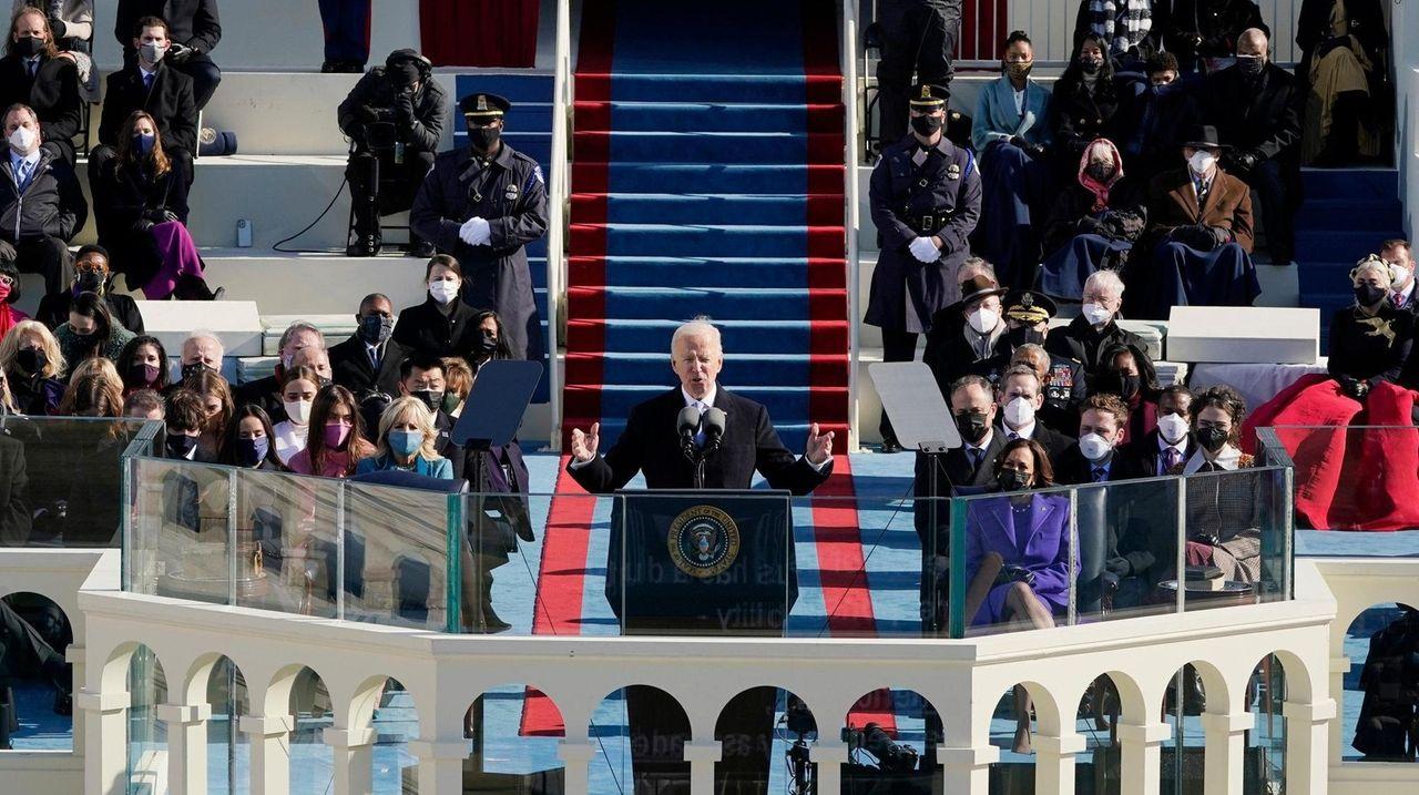 """President Joe Biden assailed """"a rise of political"""
