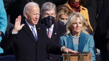 Joe Biden was sworn in Wednesday as the